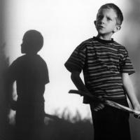 Boy and shadow.