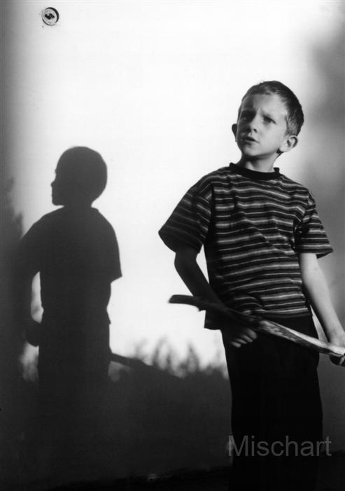 Boy and shadow.